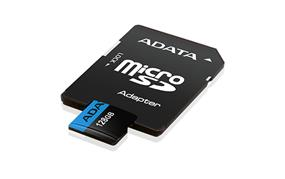 ADATA Premier 128GB microSDXC UHS-I Class 10 Flash Memory Card w/Adapter Upto 85MB/s Read, 25MB/s Write (AUSDX128GUICL10 85-RA1)