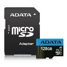 ADATA Premier 128GB microSDHC UHS-I Class 10 Flash Memory Card w/Adapter Upto 85MB/s Read, 20MB/s Write (AUSDX128GUICL10A1-RA1)