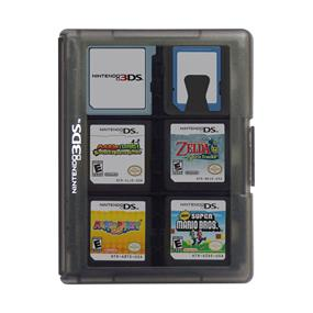 HORI Nintendo 3DS Game Card Case 24 - Black - Standard Edition