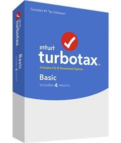 Intuit TurboTax® Basic 2016, 4 returns, bilingual (426081)