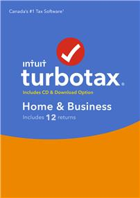 Intuit TurboTax® Home & Business, 12 returns, bilingual (426092)