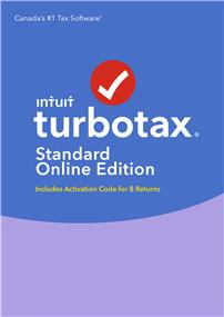 Intuit TurboTax® Standard Online 2016, 8 returns, bilingual (426096)