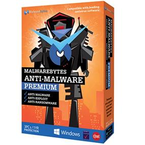 Malwarebytes  Anti-Malware/Exploit/Ransom Prem 3U 1YR BIL TB