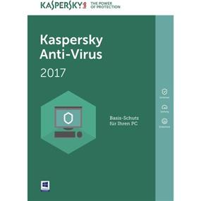 Kaspersky Antivirus 2017 Retail Box 3 User-NA (083832314118)