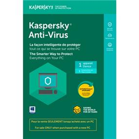 Kaspersky Antivirus 2018 Tech-Bench OEM 1-User BIL-For Sale only when purchased with a PC