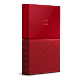 WD 4TB My Passport Portable Hard Drive with password protection and auto backup software Red (WDBYFT0040BRD-WESN)