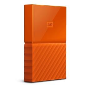 WD 4TB My Passport Portable Hard Drive with password protection and auto backup software Orange (WDBYFT0040BOR-WESN)