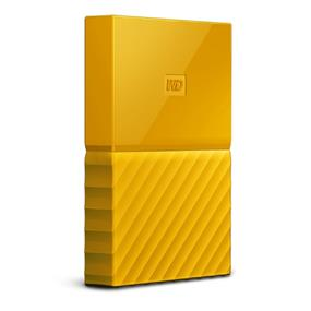 WD 2TB My Passport Portable Hard Drive with password protection and auto backup software Yellow (WDBYFT0020BYL-WESN)