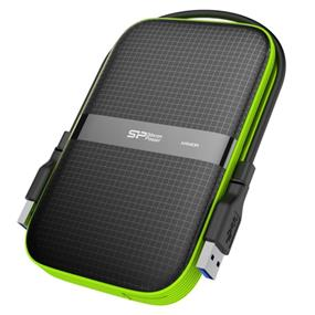 Silicon Power 2TB Rugged Armor A60 Shockproof/Water Resistant 2.5 Inch USB 3.0 Portable Hard Drive (SP020TBPHDA60S3K)