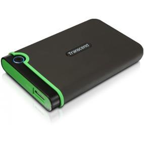 """Transcend 1TB StoreJet Iron Gray 2.5"""" USB 3.0 Met U.S. Military Drop-test External HDD (TS1TSJ25M3)"""