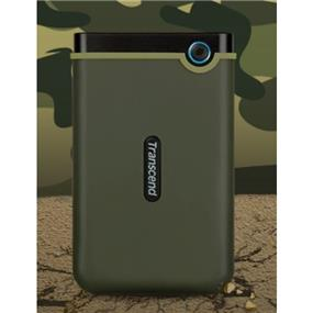 "Transcend 2TB StoreJet Military Green 2.5"" USB 3.0 Met U.S. Military Drop-test External HDD (TS2TSJ25M3E)"