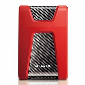 "ADATA DashDrive Durable HD650 2TB 2.5"" USB 3.1 External Hard Drive Shock-resistant - Red (AHD650-2TU31-CRD)"