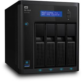 WD 8TB My Cloud DL4100 Business Series Network Attached Storage - NAS - WDBNEZ0080KBK-NESN