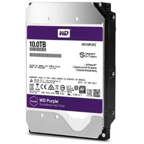 WD Purple 10TB Surveillance  Hard Disk Drive - Intellipower SATA 6 Gb/s 256MB Cache 3.5 Inch - WD100PURZ