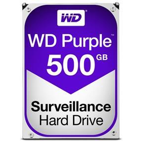 """WD Purple™ Surveillance Hard Drive 500GB 3.5"""" SATA 6Gb/s 64 MB Cache 5400 RPM (WD05PURZ)"""