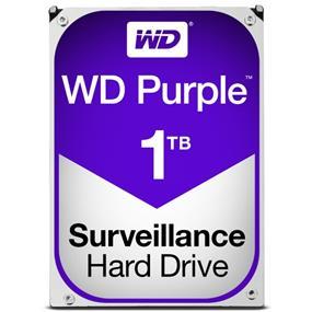 """WD Purple™ Surveillance Hard Drive 1TB 3.5"""" SATA 6Gb/s 64 MB Cache 5400 RPM (WD10PURZ)"""