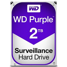 "WD Purple™ Surveillance Hard Drive 2TB 3.5"" SATA 6Gb/s 64 MB Cache 5400 RPM (WD20PURZ)"
