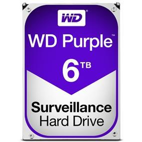 """WD Purple™ Surveillance Hard Drive 6TB 3.5"""" SATA 6Gb/s 64 MB Cache 5400 RPM (WD60PURZ)"""