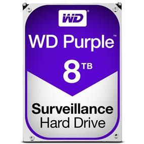 """WD Purple™ Surveillance Hard Drive 8TB 3.5"""" SATA 6Gb/s 128 MB Cache 5400 RPM (WD80PURZ)"""
