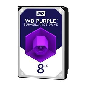 WD Purple 8TB Surveillance Hard Disk Drive - 5400 RPM Class SATA 6 Gb/s 128 MB Cache 3.5 Inch - WD80PUZX