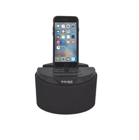 Escape RA-918 LED Radio Alarm Clock with iPhone 5/6 Docking - Black