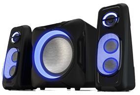 SYLVANIA 2.1 Bluetooth Speaker System with LED Lights