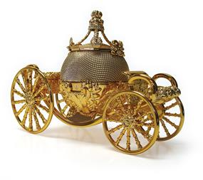 Cinderella Carriage Fashion Bluetooth Speaker - Gold