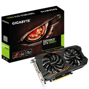 GIGABYTE GeForce GTX 1050 Ti Windforce OC 4GB (GV-N105TWF2OC-4GD)