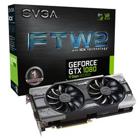EVGA GeForce GTX 1080 FTW2 GAMING 8GB (08G-P4-6686-KR)