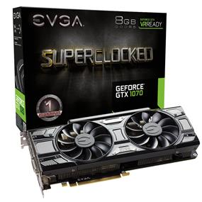 EVGA GeForce GTX 1070 SC Gaming ACX 3.0 Black Edition 8GB  (08G-P4-5173-KR)