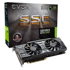 EVGA GeForce GTX 1060 SSC GAMING ACX 3.0 6GB  (06G-P4-6267-KR)