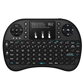 Rii Mini i8+  Mini 2.4GHz Wireless backlit keyboard with touchpad Mouse, Rechargable Li-ion Battery