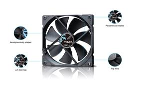 Fractal Design Dynamic X2 GP Cooling Fan- Black (FD-FAN-DYN-X2-GP12-BK)