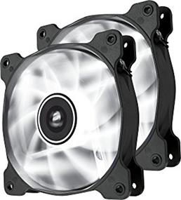 Corsair Air Series AF120 LED White Quiet Edition 120 mm x 25 mm, 3 pin, Twin Pack (CO-9050016-WLED)