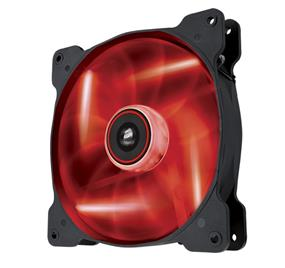 Corsair Air Series AF140 LED Red Quiet Edition 140 mm x 25 mm, 3 pin, Single Pack (CO-9050017-RLED)