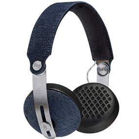 House of Marley Rise BT - Wireless On-Ear Headphones (Denim)