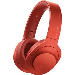"Sony MDR100ABN ""h.ear on"" Wireless NC Bluetooth Headphones (Cinnabar Red)"