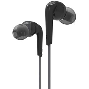 MEElectronics RX18P - Comfort-Fit In-Ear Headphones with Enhanced Bass and Inline Mic (Black)