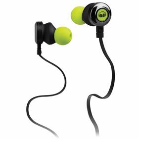 Monster Clarity HD - In-Ear Sound Isolating Headphones with Mic (Green)