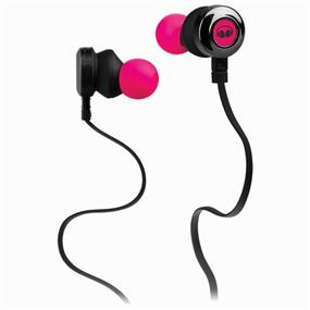Monster Clarity HD - In-Ear Sound Isolating Headphones with Mic (Pink)