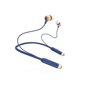House of Marley Smile Jamaica BT Wireless Earphones with Mic - Denim (EM-JE083-SB)