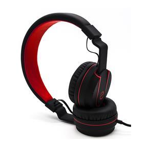 (E)scape HP-3887 - Lightweight On-Ear Headphones (Black/Red)
