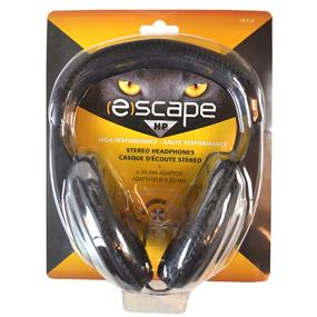 (E)scape HP-910 - Portable Lightweight On-Ear Headphones