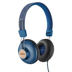 House of Marley Positive Vibration 2 On-Ear Headphones with Universal Remote & Microphone (Denim)