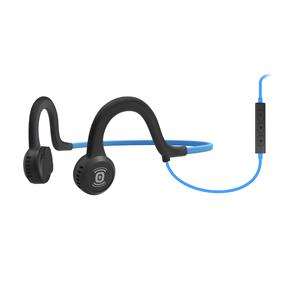 Aftershokz Sportz Titanium Wired Headphone with Mic (Blue)