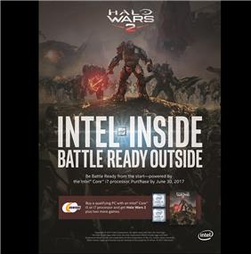 Buy Intel CPU Core i5 /i7 and receive Free 3 Games Halo Wars 2, Dreadnought, Euro Truck Simulator 2 for limited time, while quantity last. Promo ends June 30th 2017