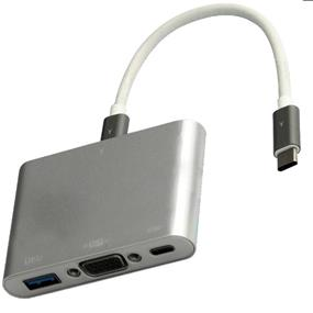 iCAN USB Type C to VGA & USB3.0 hub with PD function (GDC010)