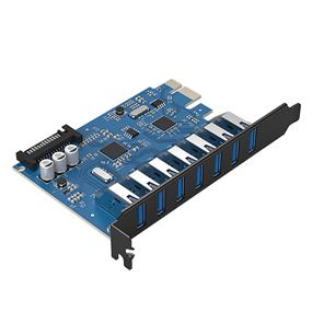 ORICO PVU3-7U 7 USB3.0 Ports Expansion by PCI-Express Adapter
