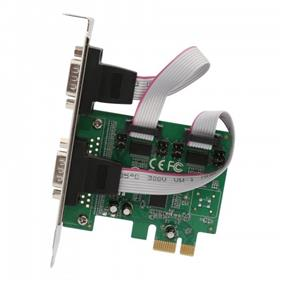 Syba (SI-PEX15055) PCI-Express 2-Port DB9 Serial (RS-232) Card