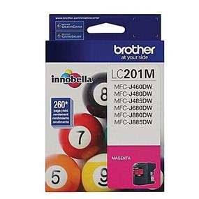 Brother LC201 Magenta High Yield Ink Cartridge (LC201MS)